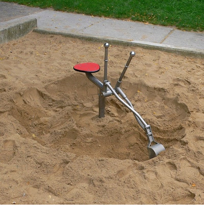砂場用パワーショベル