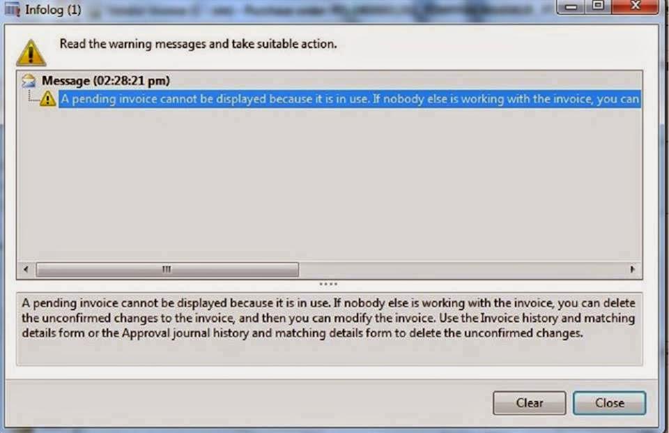 Invoice Error