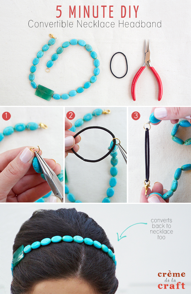 Diy Fashion Accessories Necklace Minute DIY Convertible