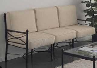 sofa de 3 plazas forja, sofa 3 plazas exterior, sofa de jardin, sofa de terraza