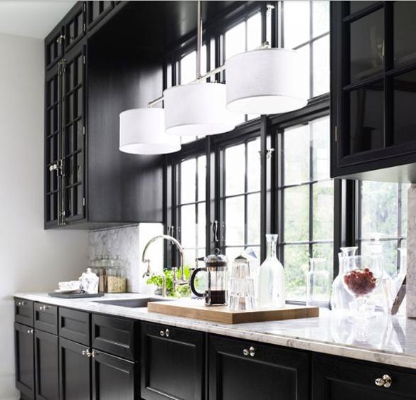 Dark Kitchen Walls With White Cabinets: Rosa Beltran Design: MY NEW KITCHEN DESIGN (AND BLACK