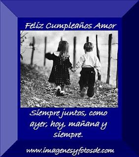 Tarjeta de Cumpleaños Romantica con Niños