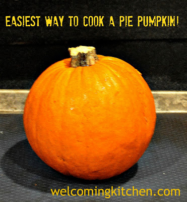 How to make pumpkin puree from a pie pumpkin.