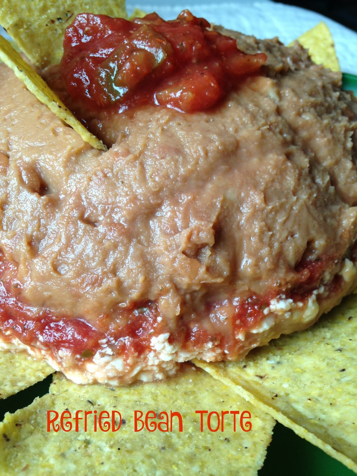 how to make bean dip with refried beans