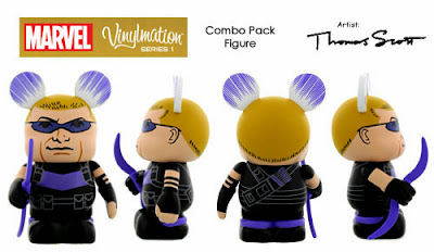 Hawkeye Marvel Vinylmation Series 1 Combo Pack Topper Vinyl Figure