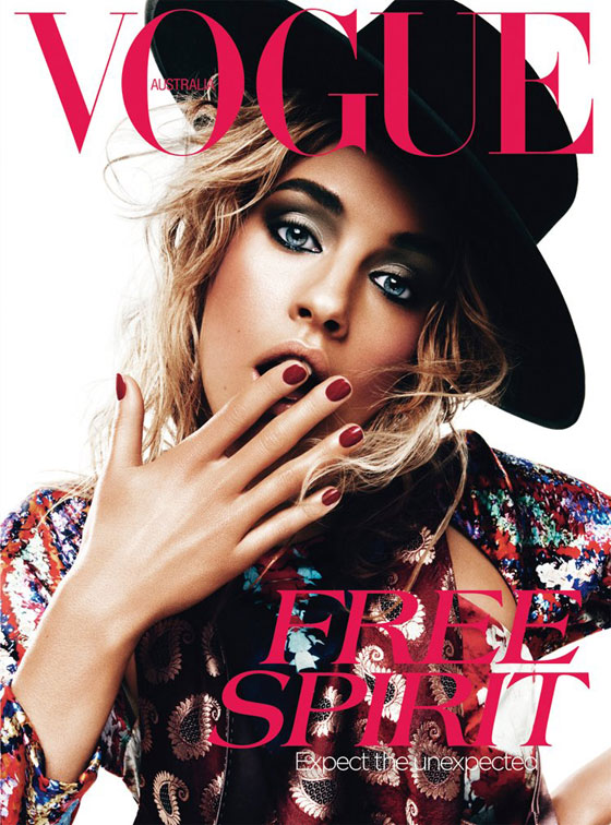 Julia Frauche para Vogue Australia abril 2012