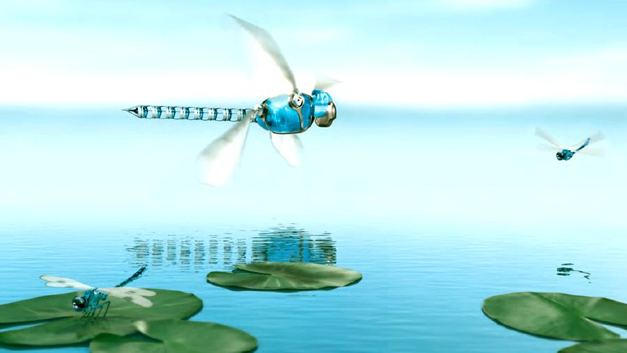 Elicottero E Libellula : Futurix bionicopter la libellula bionica di festo