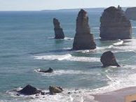 The 12 apostles are a rock formation along the Victorian coastline between Cape Otway and Warrnambool