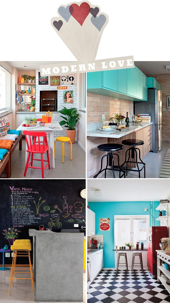 Cozinha Retro Moderna Interior Da Cozinha Na Casa Luxuosa Nova Com