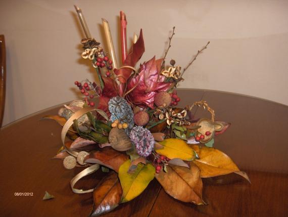 centros de mesa con flores secas parte 1