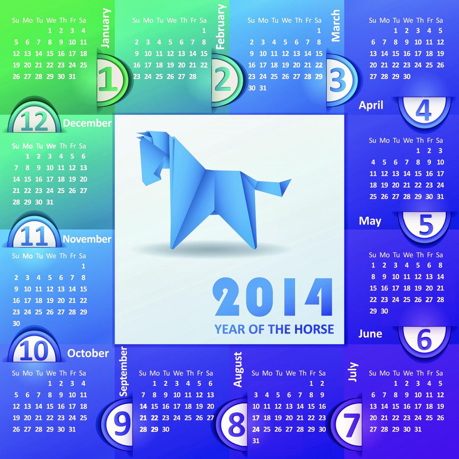 The horse Calendar