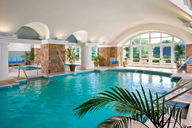 Indoor Pool at Ballantyne  Hotel in Charlotte,N.C..