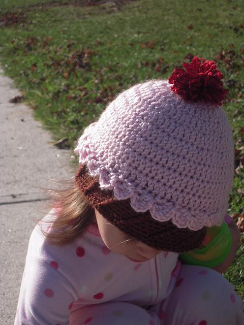Petite Props Free Crochet Pattern Cupcake Beanie Hat