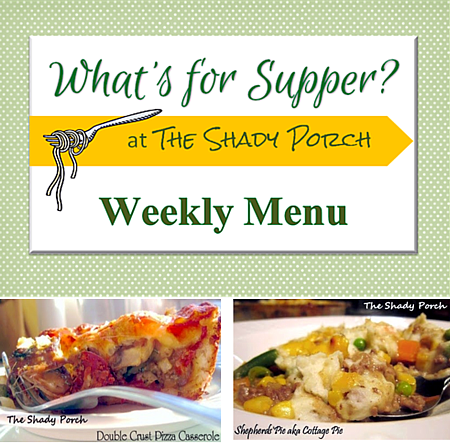 What's For Supper: Menu August 25, 2014