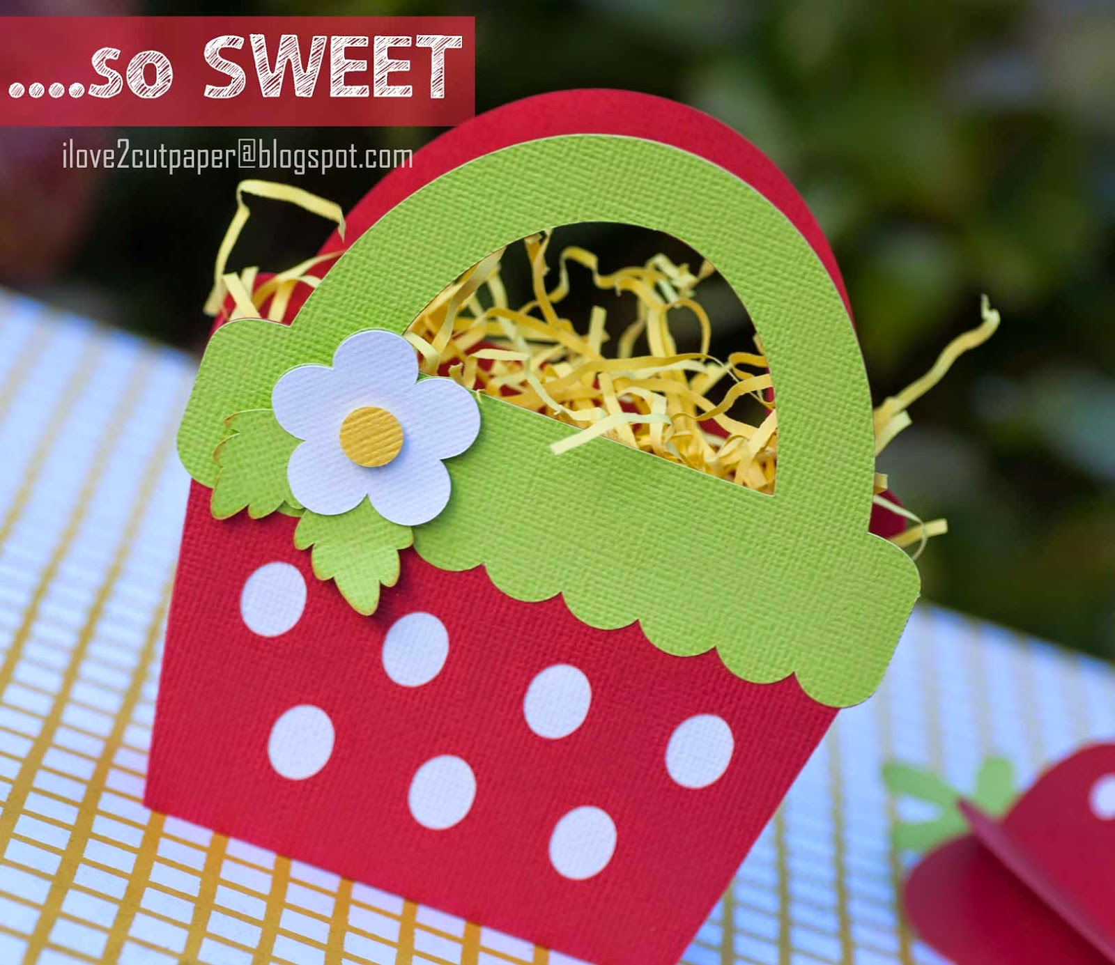 Strawberry Gift Bag cutting file used with my Pazzles Inspiration