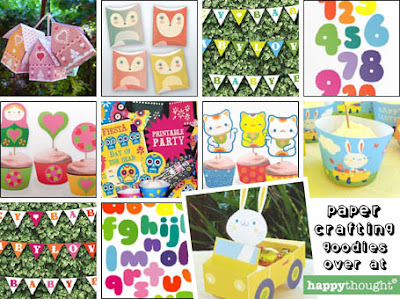 Papercrafts at Happy Thought