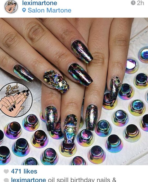 Stunning Oil Slick Nails! - OMG Love Beauty!