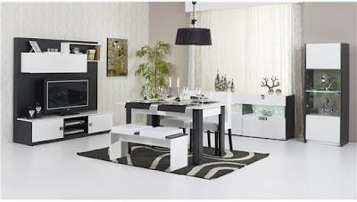siyah+beyaz+yemek+odasi+takimi Modern,Şık,lux Delux,Yeni Trend Yemek Odası Takımları