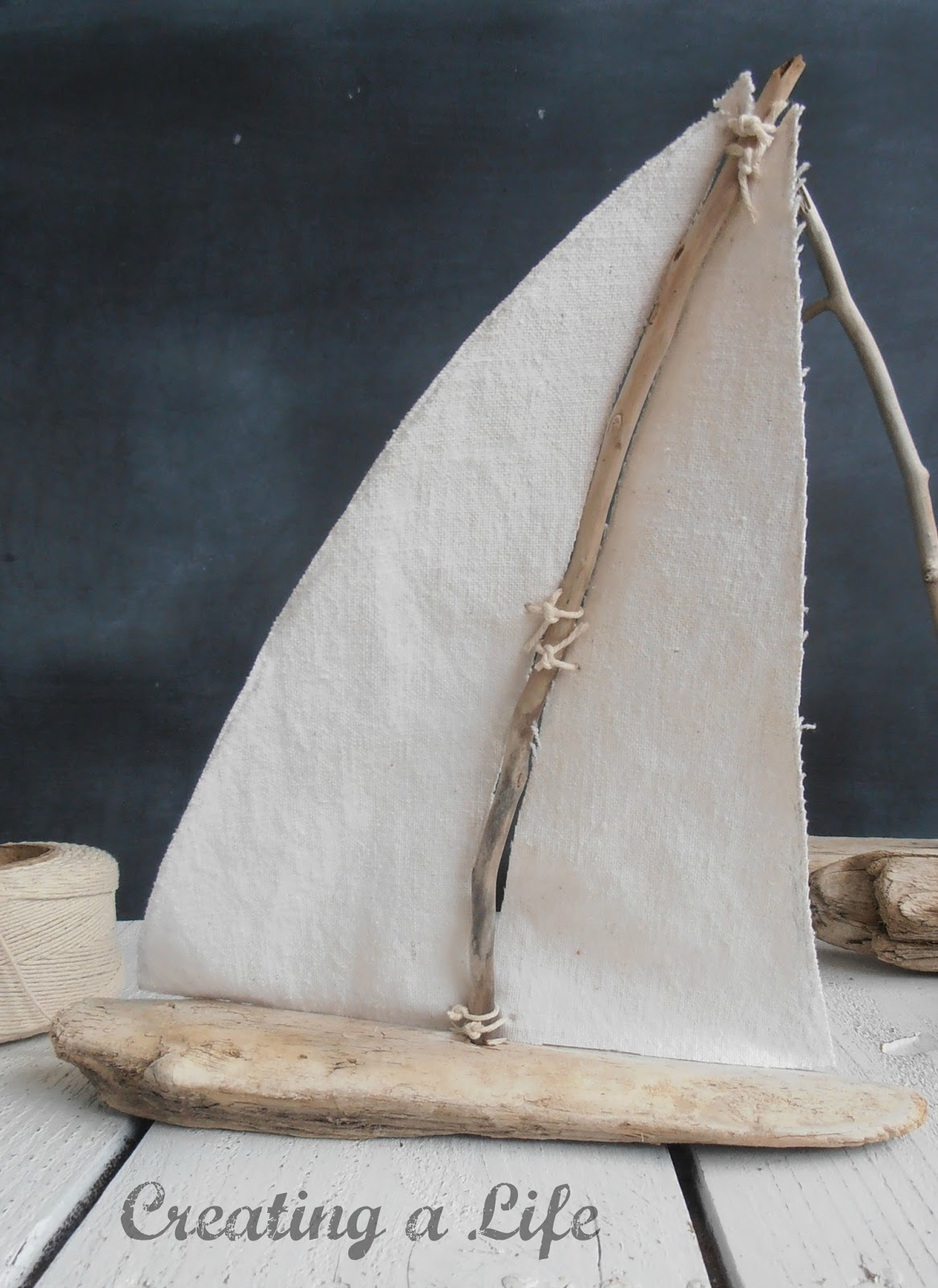 creating a life driftwood sailboats tutorial