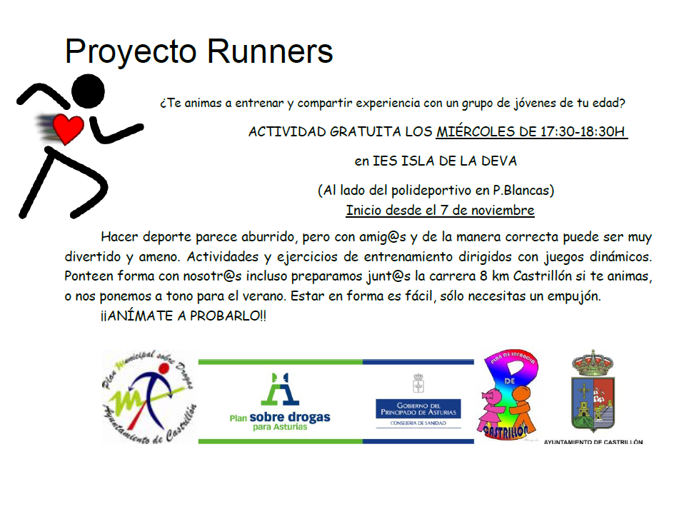 PREPARANDO RUNNERS EN CASTRILLON