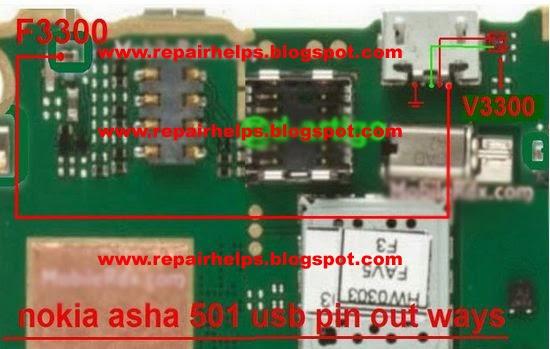 REPAIR HELPS     Nokia    asha    501    charging solution