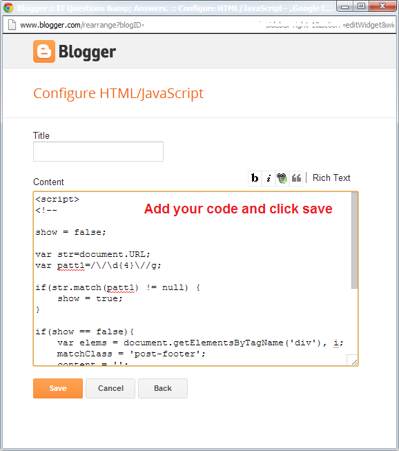 IT stuff: How to add custom HTML/JavaScript to Blogger blog?