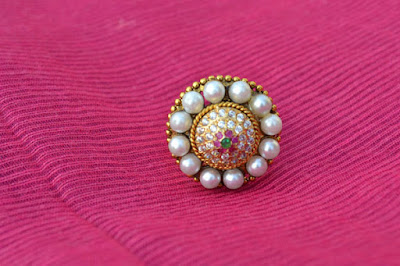 Ethnic pearl ring Indian jewellery Perkymegs