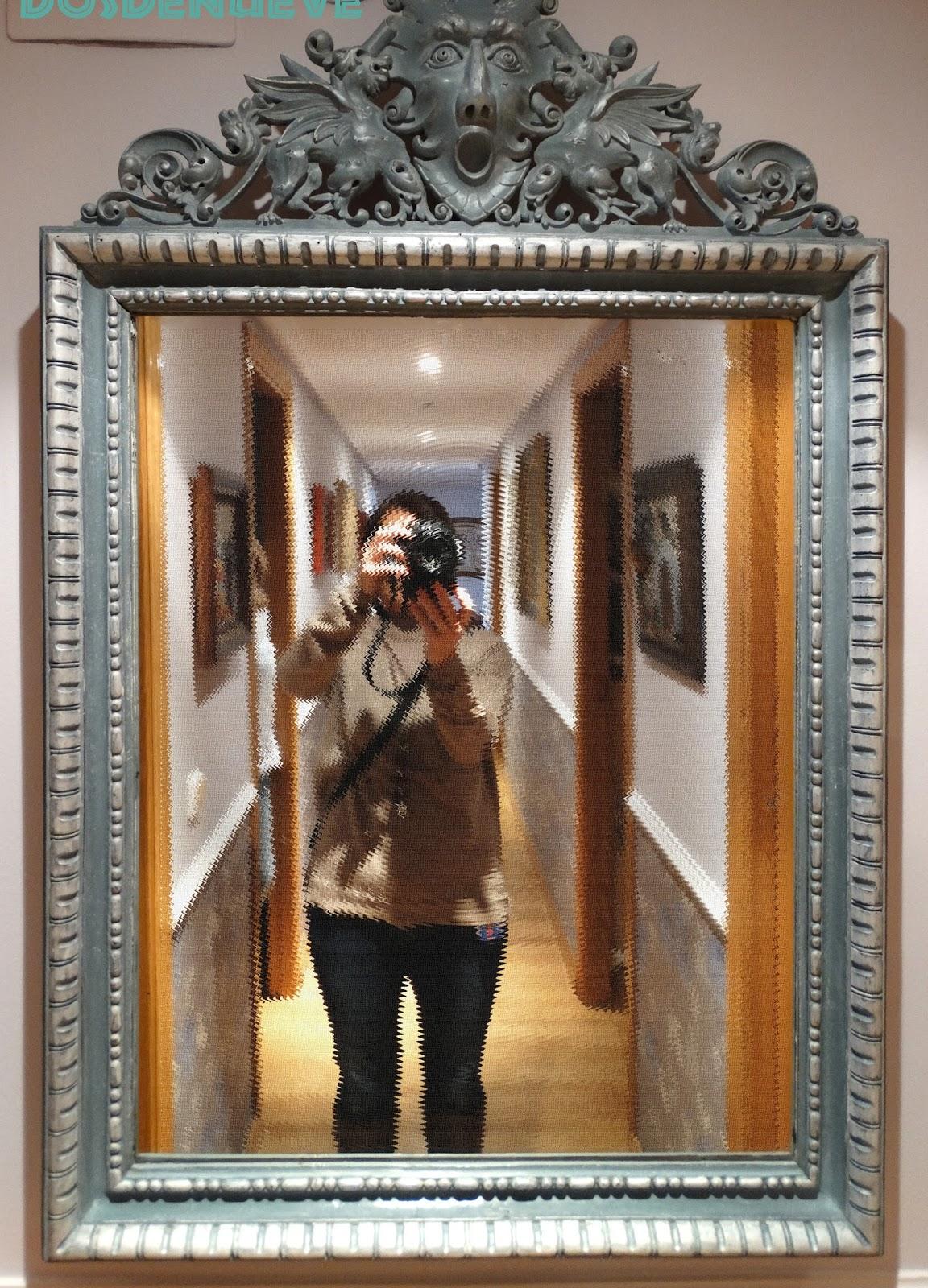 Pintando un espejo antiguo