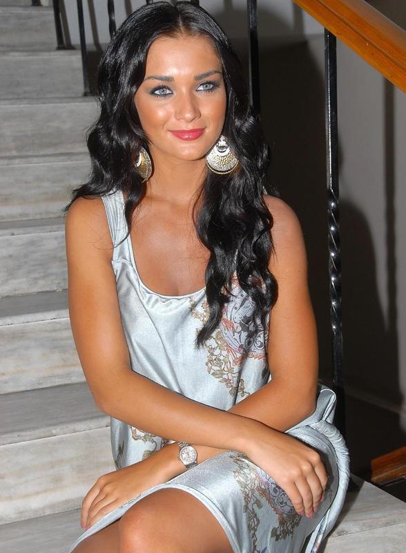 amy jackson in white dress actress pics