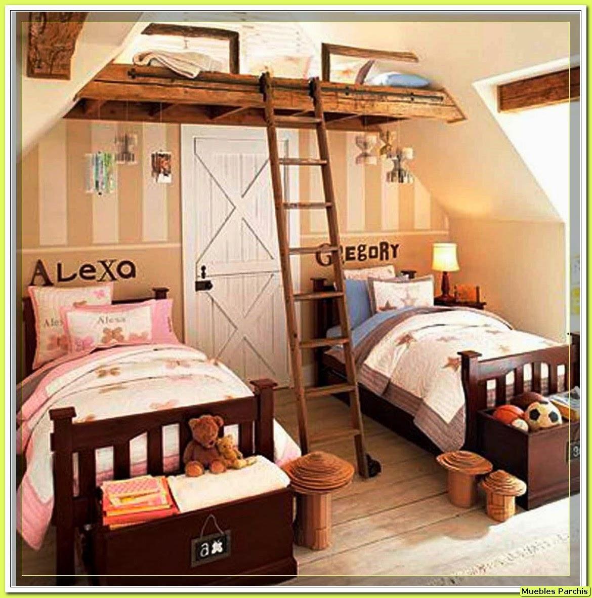 Cama mesa abatible camas autoportantes dormitorios - Habitaciones infantiles compartidas ...