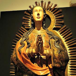 Virgen del Milagro no Museu Diocesano de San Ignacio Guazu, no Paraguai.