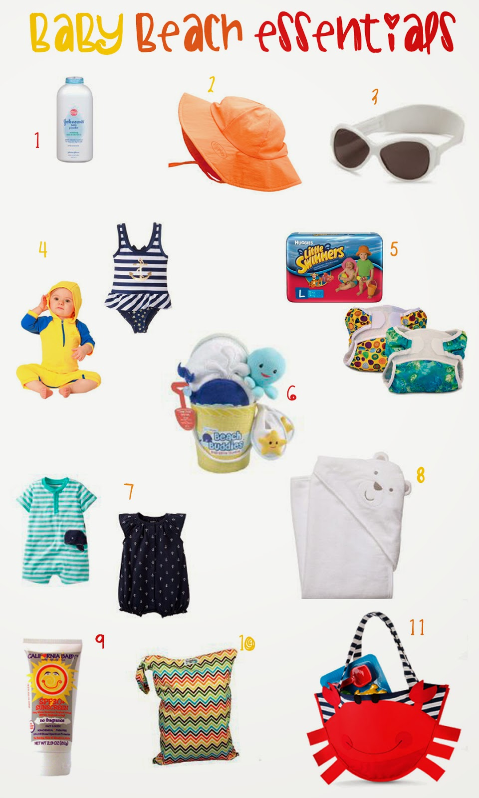Baby Beach Essentials, Summer baby products