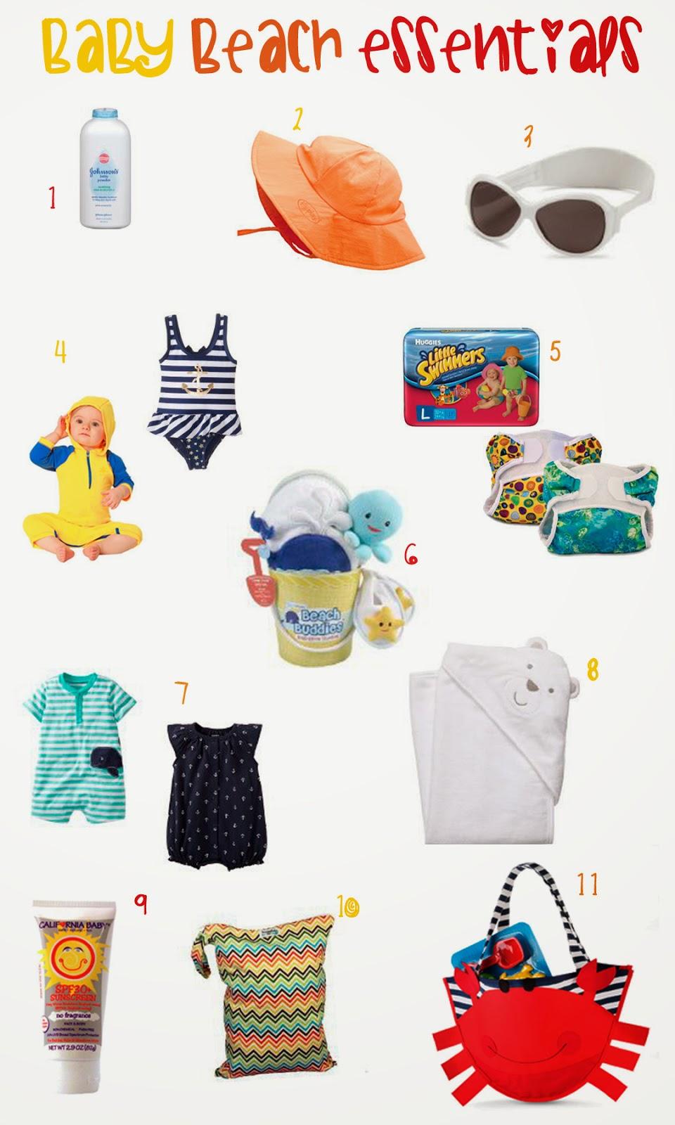 Baby Beach Essentials, Summer baby products