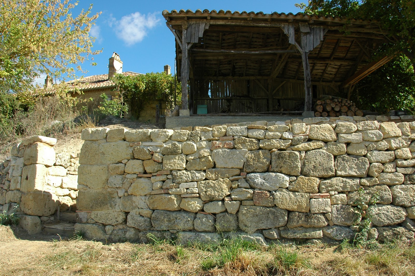 More than just wine building stone walls for Building a stone house