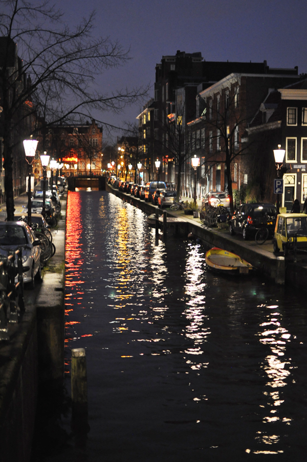 the canals at night.