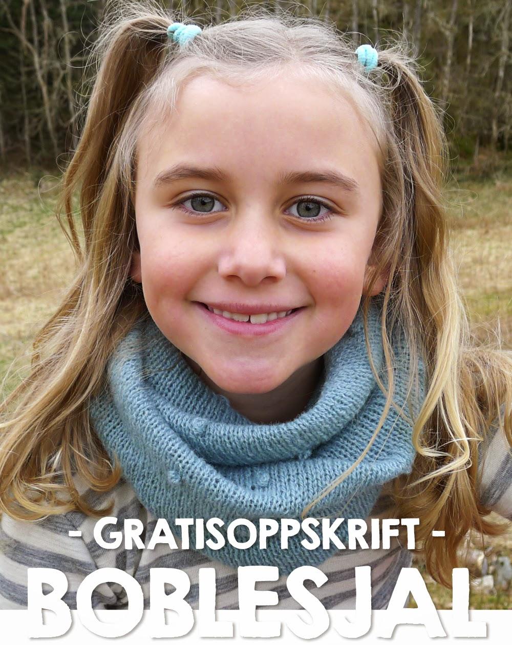 Boblesjal - gratisoppskrift på sjal fra Nøstebarn