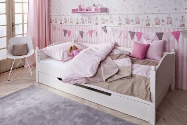 Cuarto de ni a en rosa y gris dormitorios colores y estilos - Alfombra habitacion nina ...