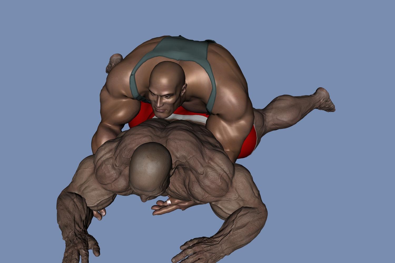 wrestling erotic: