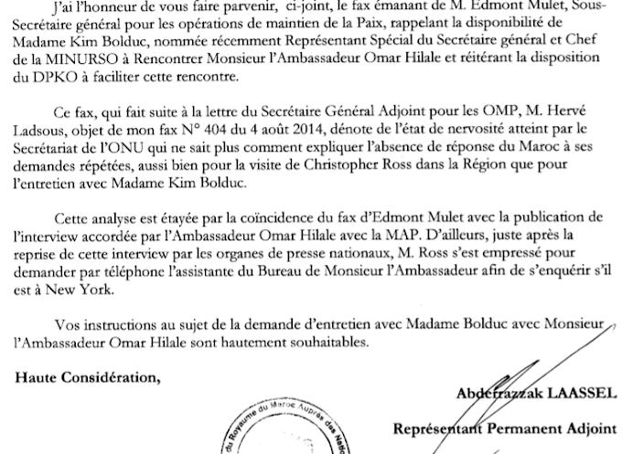 Le Maroc en guerre avec l'ONU