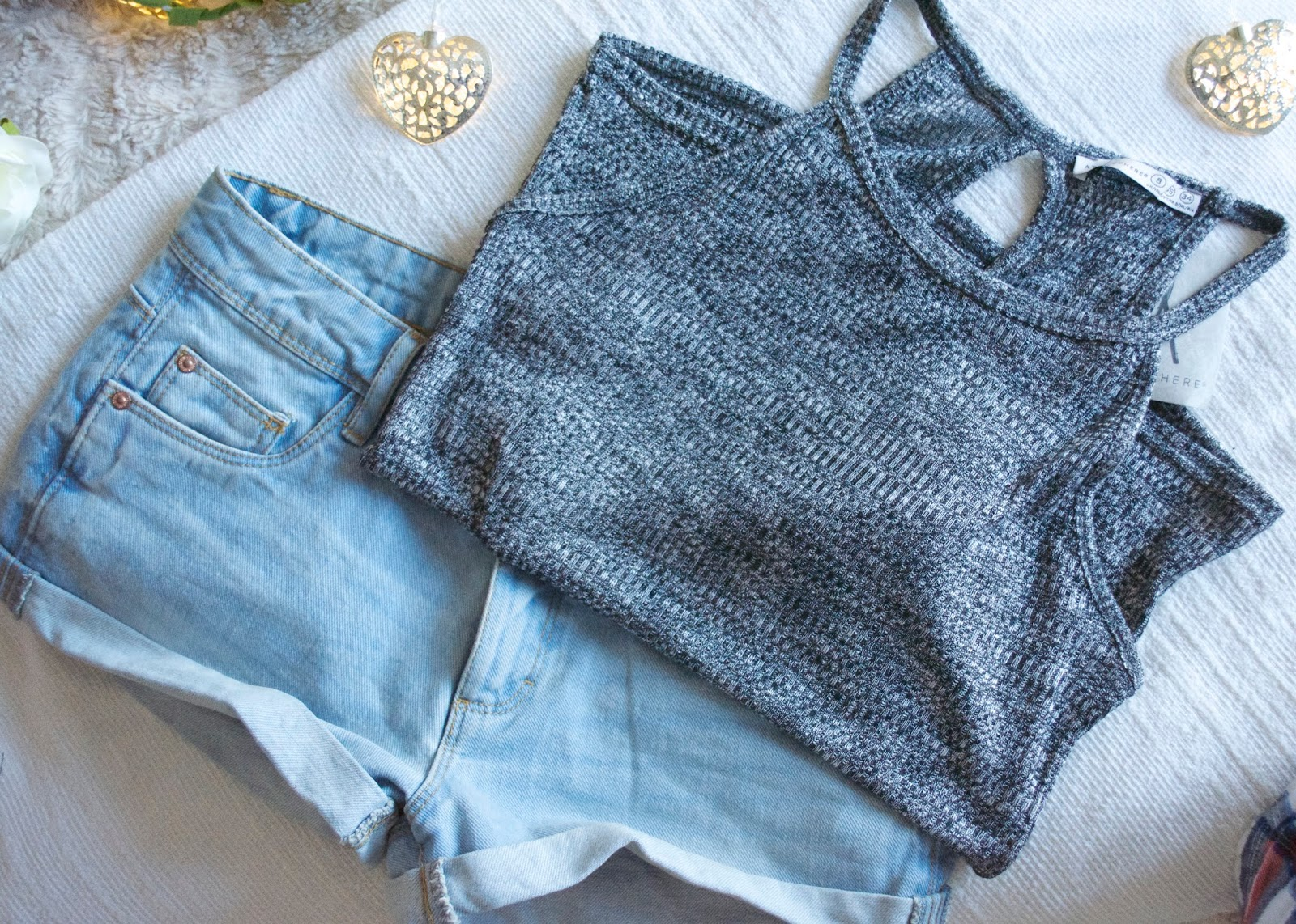 Primark Haul, Primark Denim Shorts, Denim Shorts, Knitted Grey Top, Primark