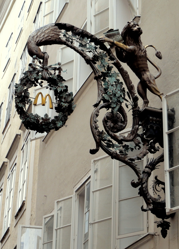 Medieval Guild Signs Salzburg, Austria: Moz...