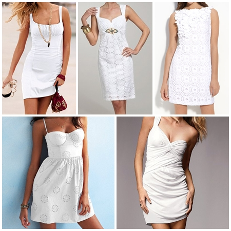 White  Dress on Corset Sundress