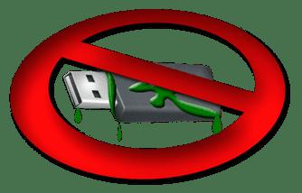 Pen drive infectado con malware