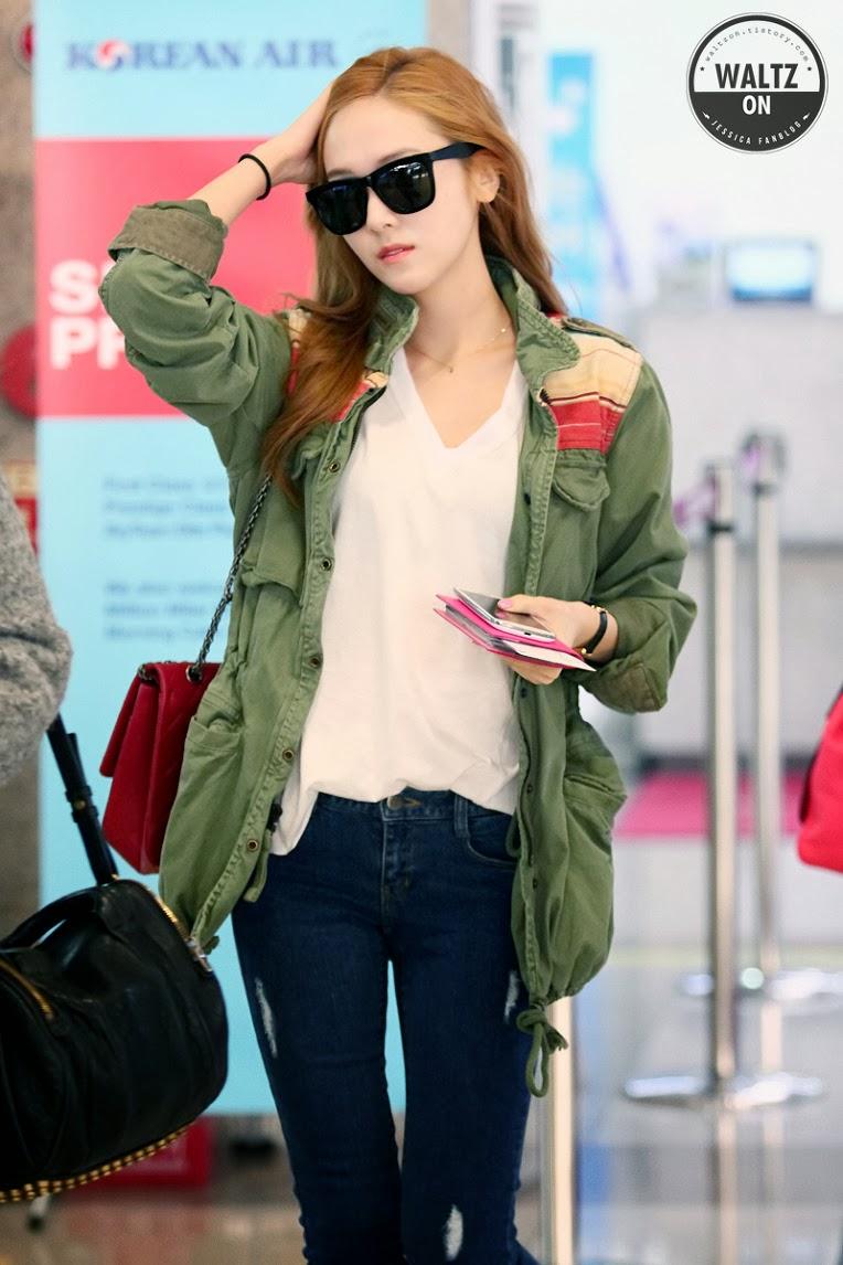 Snsd Jessica Airport Fashion Official Korean Fashion