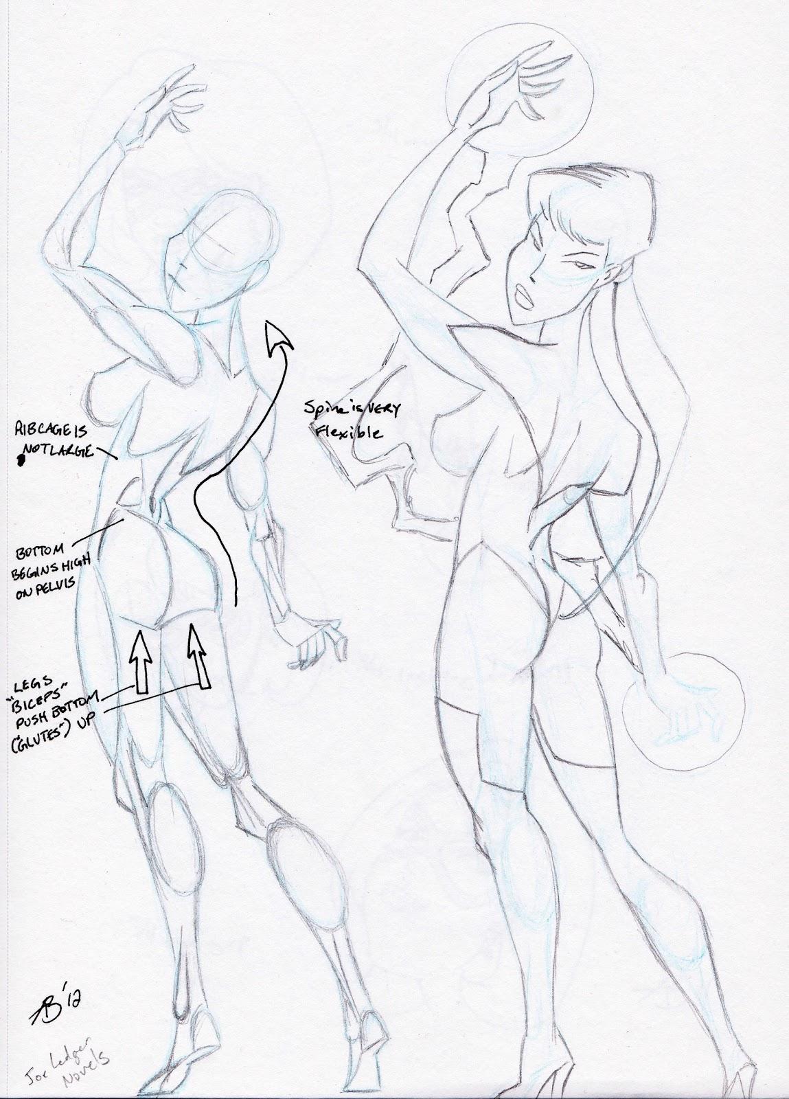 Anthony Bachman Illustrator: 182 - Sweet sweet backside - female ...