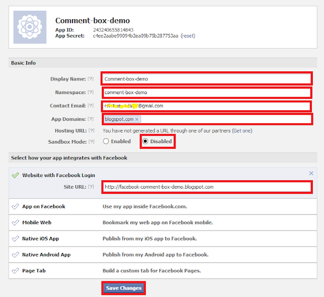 How to add Facebook Comment Box in Blogger With Notifications Enabled