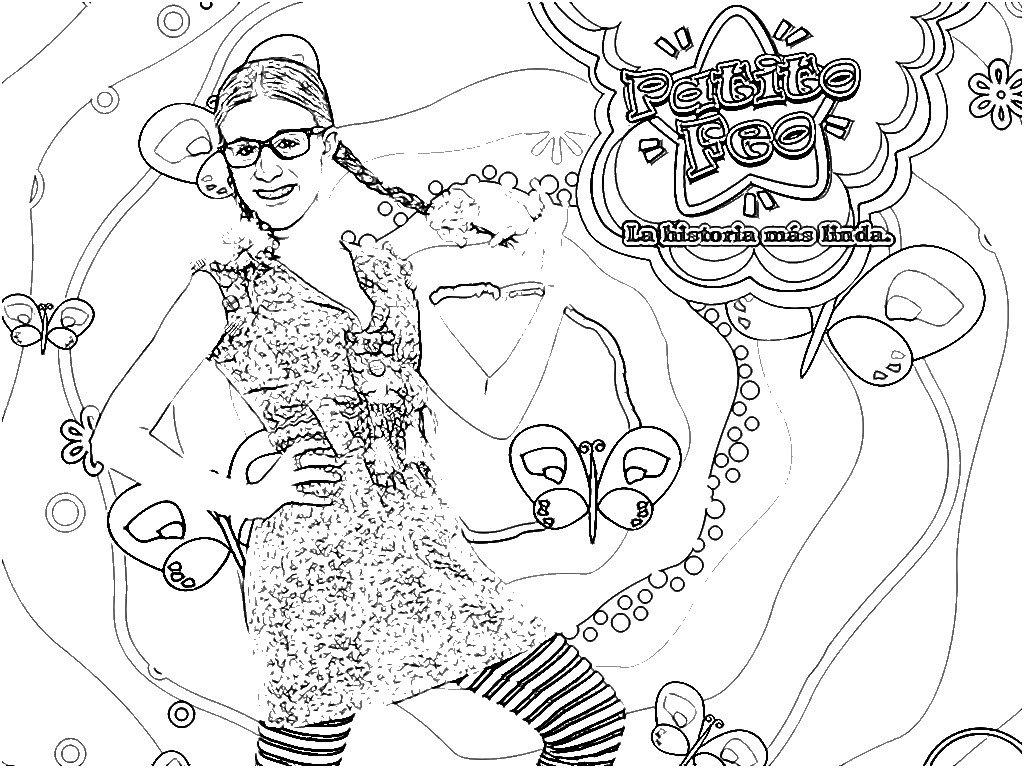 Dibujos para colorear de Antonella de Patito Feo