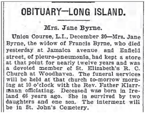 Jane (Daly) Byrne (c.1830-1901), wife of Francis.