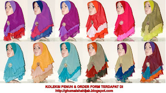 Tudung Chiffon 3 Layer - Batch 9