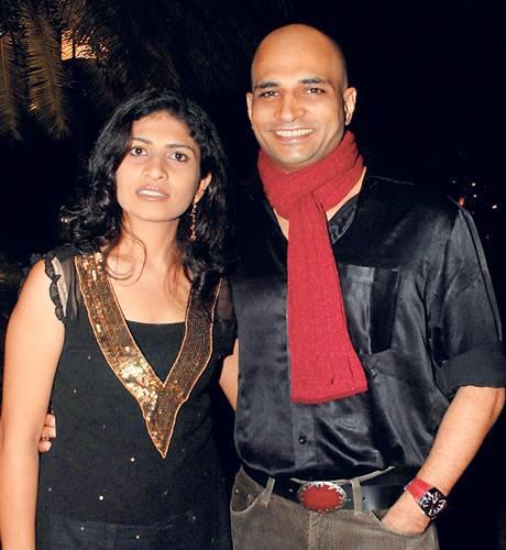 Indrajit Lankesh with wife Arpitha Lankesh
